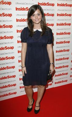 Jenna's more demure side was on show at the 2008 Inside Soap Awards, where she wore a navy dress with a Peter Pan collar and Mary Jane shoes.