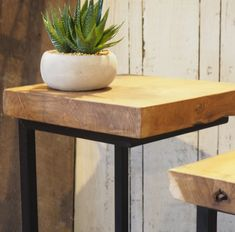 Rustic wood from our nest of two industrial coffee tables #tablenest #industrialfurniture #nestingcoffeetable #coffeetable #sidetable #homedecor