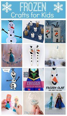 Frozen crafts for kids - fun crafts based on the Disney Movie Frozen