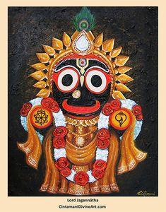 Lord Jagannatha - by CintamaniDivineArt Krishna Statue, Krishna Art, Radhe Krishna, Shree Krishna, Durga Painting, Lord Shiva Painting, Lord Jagannath, Lord Ganesha Paintings, Lord Krishna Wallpapers