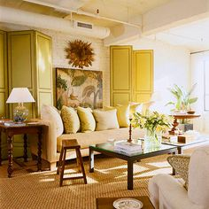 A white and yellow palette brings in the natural light
