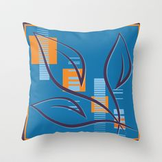 Purple Leaves Throw Pillow cover by Ramon Martinez Jr - $20.00