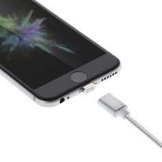 Moizen M3 Reversible Magnetic Adsorption 2.4A 8Pin Micro Charging Data Cable for iPhone 7 Samsung Sale - Banggood.com