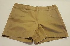 Womens Ann Taylor Loft Beige Khaki Chino Shorts Size 16 100% Cotton   eBay Shopping