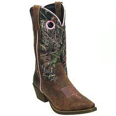 John Deere Boots Women's Camo Pull On Moisture Wicking Western Boots JD3746,    #JohnDeere,    #JD3746,    #Women'sBoots