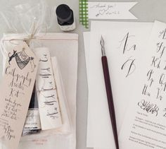 Calligraphy Starter Kit by lineacarta on Etsy