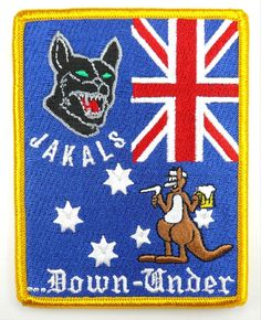 USAF 17th SOS SPECIAL OPERATIONS SQUADRON JAKALS DOWN WNDER PATCH