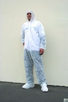 Disposable Coverall w/ Attached Hood & Boot Large Case Pack 25 Disposable Lab Coats, Safety Clothing, Parachute Pants, Normcore, The Unit, Boots, Clothes, Dr Daniel, Maria Jose