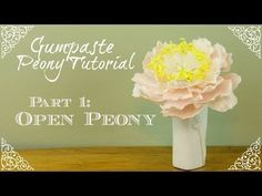 ▶ How to Make an Open Gumpaste Peony - YouTube