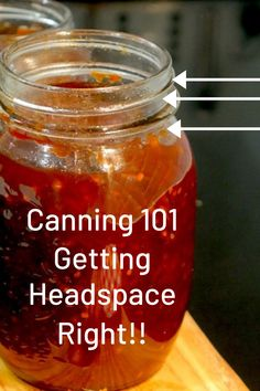 Quite simply, having the correct amount of headspace in the jar is important in order to get a good vacuum seal during processing. As the canning jars are heated, food will expand. The amount of expansion depends on the amount of air in the food, its starch content and the processing temperature. The higher the temperature, the greater the expansion. Foods that are packed into jars hot may shrink when cooled. Canning Jar Labels, Easy Canning, Canning Tips, Home Canning, Canning Recipes, Canning Vegetables, Home Grown Vegetables, Growing Vegetables, Veggies
