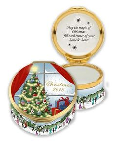 Halcyon Days 2018 Christmas Enamel Box ENCH180101G