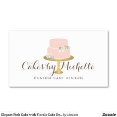 8 best business cards for cake decorating and bakery images on elegant pink cake with florals cake decorating business card colourmoves