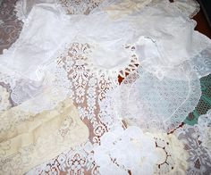 Pretty Lace Pieces 24 by CheekyVintageCloset on Etsy, $34.00