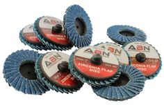 """ABN 2"""" T27 60 Grit High Density Zirconia Alumina Flat Flap Disc Roloc Roll Lock Grinding Sanding Sandpaper Wheels 10 PK, 2016 Amazon Hot New Releases Abrasive & Finishing Products  #Industrial"""