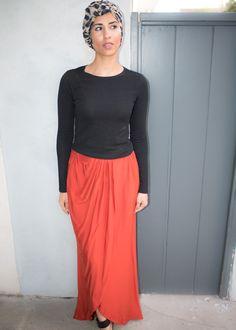 ATW - Orange Pinched Skirt