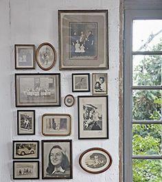 Fotografias antigas na parede (Foto: Evelyn Müller/ Editora Globo)