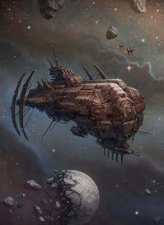 Sci Fi Frigate By Dmitriy Leonovich