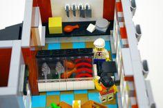 Butcher on the second floor - Modular LEGO Supermarket   by jskaare