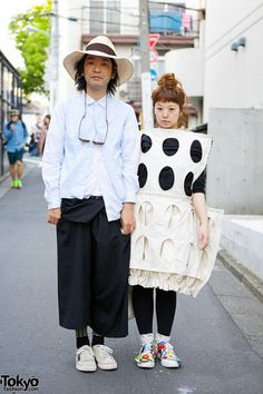 The stylish Daisuke and Hiromi snapped on the streets of Harajuku, and they were kind enough to stop for a few snaps. (Tokyo Fashion, 2014)