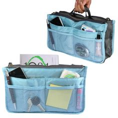 Nifty Nylon Purse Organizer Insert for Handbags - Various Size and Color