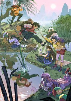 Ranma 1/2: training trip by DiaXYZ.deviantart.com on @DeviantArt