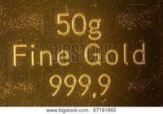 #50g #Fine #Gold #999,9 @Bigstock #Bigstock #macro #details #closeup #money #rich #stock #photo #portfolio #download #hires