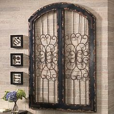 Invoking the serenity of a country garden, the Avebury Wall Grille will enhance your décor with its graceful scroll work. www.countrydoor.com
