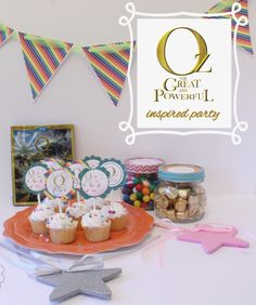 Oz the Great and Powerful inspired party including FREE party printables. Twin Birthday Parties, 12th Birthday, Birthday Ideas, Disney Diy, Disney Crafts, Movie Party, Party Time, Party Printables, Free Printables