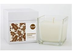 Square Glass Boxed Candle (8-oz.): Gingerbread Cookies by Food Network at Food Network Store