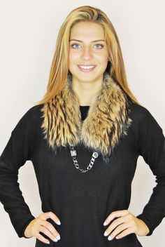 SAM RONE NATURAL RACCOON CHAINETTE ENCRUSTER COLLAR