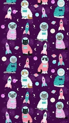 Best Ideas For Kawaii Wallpaper Backgrounds Print Patterns Tier Wallpaper, Kawaii Wallpaper, Cat Wallpaper, Trendy Wallpaper, Animal Wallpaper, Wallpaper Backgrounds, Iphone Wallpaper, Cat Pattern Wallpaper, Phone Backgrounds
