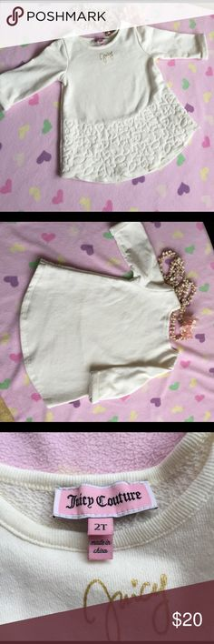 Juicy Couture Cream Pullover 2T Supper cute Juicy Pullover, only used twice, my daughter kinda jumped sizes. Excellent condition, no stains. Juicy Couture Shirts & Tops Sweaters