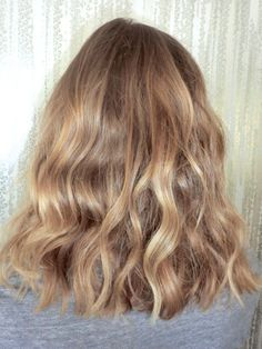 Dark Blonde Waves | Tousled, Mussed, and Messy, Shoulder Length Locks. | Lots of Natural Texture And Wave