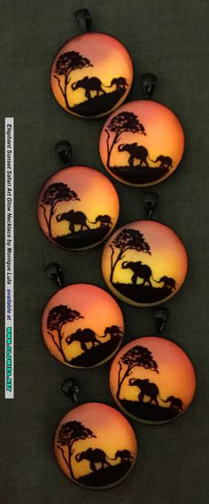 Elephant Safari Sunset Glow Necklace by Monique Lula for Glowies.net
