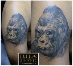 # Gorilla tattoo # ;) Get inked from Experienced Tattoo Professional.. Call: Sunil C K @ +91 9035217218 to book your appointment.  www.facebook.com/tattooimpec