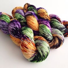Hand Dyed Yarn  Candy Witch  Merino Nylon Sock by aVividYarnStudio