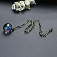 Keep the wonders of the universe close to you always with this stunning double sided glass ball pendant necklace! Necklace measures approximately Free Worldwide Shipping & Money-Back Guarantee Pearl Pendant Necklace, Locket Necklace, Unique Necklaces, Luxury Jewelry, Necklace Lengths, Women Accessories, Jewelry Accessories, Vintage Ladies, Vintage Jewelry