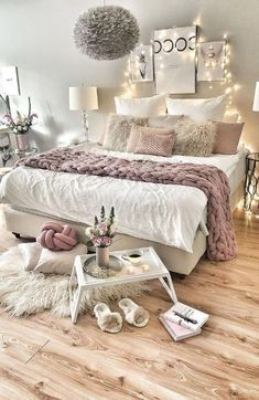dream rooms for adults small spaces & dream rooms . dream rooms for adults . dream rooms for women . dream rooms for couples . dream rooms for adults bedrooms . dream rooms for adults small spaces Bedroom Ideas For Teen Girls, Teenage Room Decor, Room Ideas Bedroom, Dream Bedroom, Diy Bedroom, Bedroom Storage, Bedroom Themes, Bed Room, Warm Bedroom