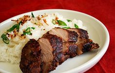 What's Cookin, Chicago?: Jerk Pork Tenderloin with Toasted Coconut Rice