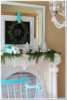 Christmas Mantle Decorating idea | In My Own Style