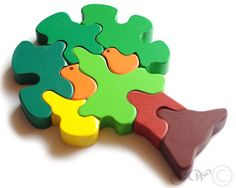 Wooden Puzzle Birds in a Tree. Wooden Toys. Wooden by GreenWoodLT