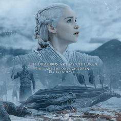 Daenerys Stormborn #GameofThrones #whitewalkers #dragons