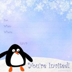 Invitation Templates For Free Free Printable Party Invitations Free Snowman Invite Template For A .