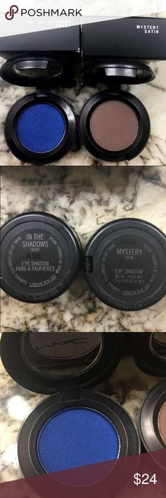 "MAC Cosmetics Eyeshadow just the Blue one Brand new MAC cosmetics eyeshadow the name is ""in the shadows Frost"" this listing is just for the blue eyeshadow. Brown one already sold. Make an offer 🤗 Happy Poshing MAC Cosmetics Makeup Eyeshadow"