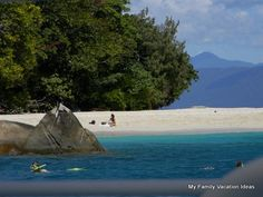 Fitzroy Island Queensland, Australia accommodation options and reviews for family friendly activities for children and infants