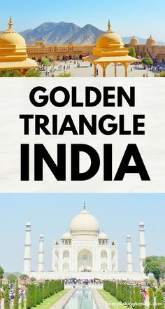 Golden Triangle India itinerary 2019 as DIY tour by train, bus, taxi 🚊 Backpacking India Travel Golden Triangle India with best places to visit in Jaipur, Agra, New Delhi. Travel Destinations In India, India Travel Guide, Family Destinations, Asia Travel, Travel Tips, Travel Ideas, Agra, Taj Mahal, Varanasi