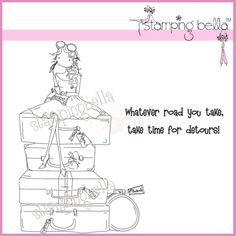 stamping bella uptown girls   Stamping Bella Rubber Stamp - Uptown Girl Molly Makes A Detour ...