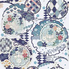 Japanese Patterns, Japanese Prints, Japanese Design, Pattern Art, Pattern Design, Superflat, Cecile, Scarf Design, Japan Art