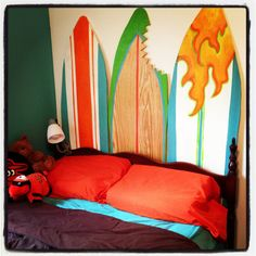 Boys surf themed room | Home Decor | Pinterest