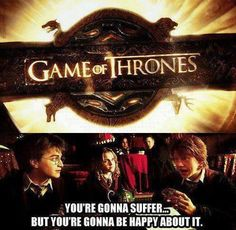 I love game of thrones! both tv n books! even if it is pretty distressing at times I cannot get enough!